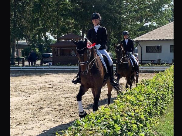 Siegerrunde Kim Kubla mit Fritzi in Ochtrup