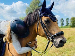 Foto: Lia Müller und Cipollini beim Auswahllehrgang für den Sichtungslehrgang zum Bundesnachwuchschampionat U14 Ponys